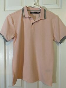 CALVIN KLEIN JEANS Boys Pink Short Sleeve Polo SZ M 10 12 New Without Tags $13.00