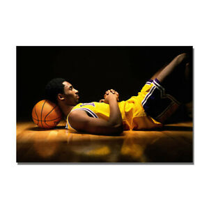 Kobe Bryant Young Basketball Poster Sport Art Painting Print Bedroom Wall Decor $16.79