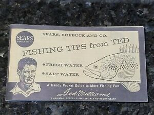 Vintage Fishing Tips From Ted Williams Pocket Guide Sears Roebuck Co. 1964