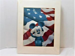 Disney Mickey Salutes America Matted Art Print Peter Emmerich 11x14 new in wrapr $29.99