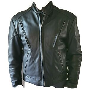 Wilsons Open Road Leather Black Motorcycle Jacket Mens Size S Thinsulate $149.00