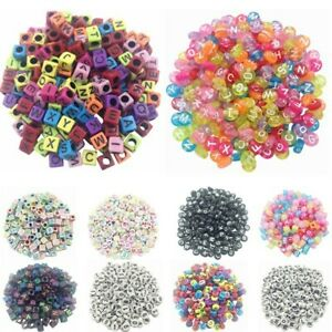 100Pcs Alphabet Letter Acrylic Spacer Loose Beads Jewelry Making DIY Necklace C $1.93