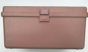 Vintage WILSON WIL HOLD Pink Mauve Plastic Sewing Storage Box w Tray $17.49