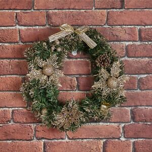 Decorative Classic Green Christmas Artificial Hanging Wreath Home Decoration $15.39