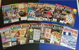 Lot of 15 'For The Love Of Quilting' by Fons And Porter Magazines $19.00