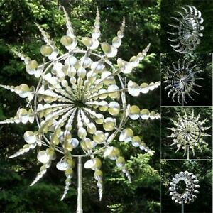 Unique and Magical Metal Windmill Sculptures Move Kinetic Lawn Wind Spinners
