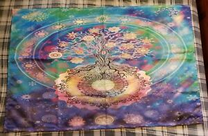Tree of Life with Floral Style Mandala Tapestry $8.00