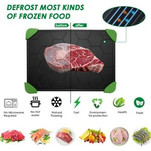 Fast Defrosting Tray Rapid Thawing Board Safe Defrost Meat Frozen Food Plate Kit
