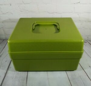 Wilson Wil Hold Craft Sewing Box Case Green Plastic Storage Container 7 x 9 x 12 $15.25