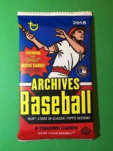 2018 Topps Archives Sealed HOBBY Pack Ohtani Soto Acuna Rookie RC Trout AUTO $20.99