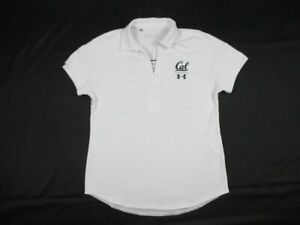 California Golden Bears Under Armour Polo Womens White Gray Used $24.64