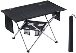 Outdoor Folding Table with Cup Holders Foldable Portable Tables with Carry Bag $55.91