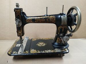 Antique Sewing Machine White S.M. Co. Clevland OH. With Decal 1890 1900? $59.99