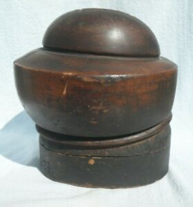 Antique Wooden Hat Mold EMPIRE HAT BLOCK CO. NY #1470 Size 22 1 4 5 Piece Puzzle $285.00
