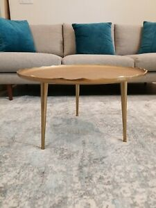 New Coffee Table Gold Round Boho Contemporary Modern Aluminum Antique Legs Metal $170.00
