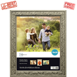 16 x 20 in Ornate Gold Picture Frame Poster Portraits Art Print Display Showcase $20.99