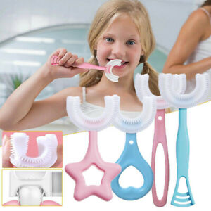 Kids U Shape Toothbrush 360° Baby Oral Cleaning Silicone Manual Brush Health US $1.89