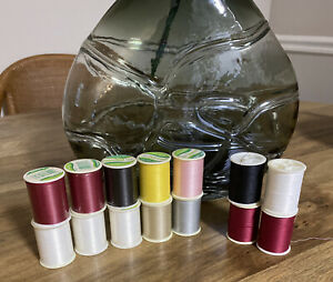 Trusew Polyester Thread 200 Yd Lot Of 14 Spools 10 Unopened 4 Partial $22.00