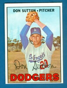 1967 Topps #445 Don Sutton Dodgers 2nd Year Card Sharp Corners
