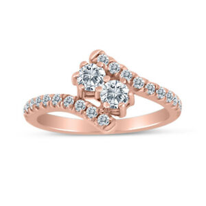 0.65ctw Diamond Two Stone Ring in 10k Rose Gold $399.99
