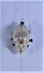 ANTIQUE GLASS FIGURAL CHRISTMAS ORNAMENT WITH PAPER LEGS $39.00
