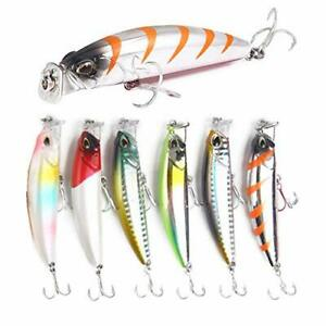 Nuguri fishing lure 爆釣 Minnow 8cm 10g 6 color set seabass and the best fishing l