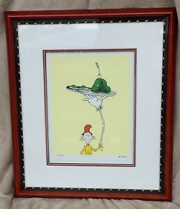 Limited Edition Dr. Seuss Geisel Lithograph of Green Eggs and Ham Inside Cover $2700.00