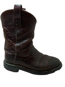ARIAT SIERRA BROWN LEATHER SOFT ROUND TOE WELLINGTON WORK BOOTS #37285 MENS 9D $50.00