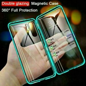 Magnetic Metal For Huawei P30 P40 Lite Pro Nova Cover Bumper Tempered Glass Case $8.99