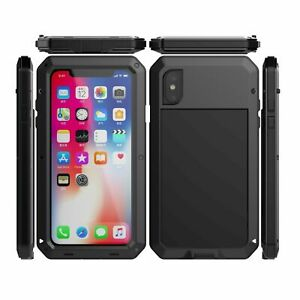 Aluminum Metal For iPhone 11 Pro Max Glass Military Armor Shockproof Cover Case $14.59