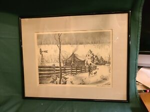 """""""Ozark Snow"""" 1942 lithograph by Charles Banks Wilson $495.00"""