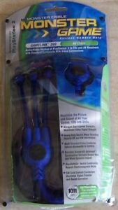 Monster RCA AV Audio Video Cable for Playstation 1 PS1 $18.95