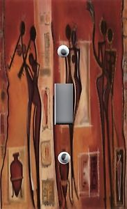 Light Switch Plate & Outlet Covers WORLD CULTURES ~ AFRICAN STYLE ART