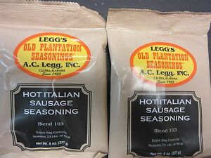 HOT ITALIAN Sausage Seasoning for 50 Lbs of Links or Ground   *Favorite Recipe*
