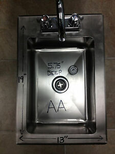 New Heavy Duty Drop-In Hand Sink 19