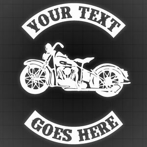 Motorcycle Decal with Rockers, Bike Wall sticker,Personal Bike Car Sticker 2PCS