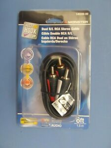 Monster RCA Cable 6 Foot long # 140289 00 Audio NEW $4.99