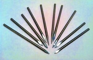 Lot of 10 Solid Carbide 1 8quot; Engraving Bits Watchmaker Jewelry Lathe Graver CNC $29.80