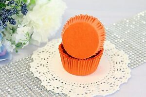 2#x27;#x27; Paper Cupcake Muffin Liners Greaseproof Baking Cups Orange Standard Size