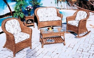 All Weather Outdoor Wicker Plymouth Porch Set of 4