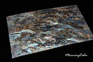 2 Sheets of Dragon Paua Coated Veneer (MOP Shell Fishing Lure Mother of Pearl)