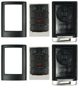 2 Case for Cadillac Remote Keyless Entry Key Fob FCC OUC6000066 6 Button Repair $17.95