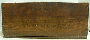 VINTAGE WINCHESTER REPEATING  ARMS CO. WOODEN SHOTGUN SHELL BOX