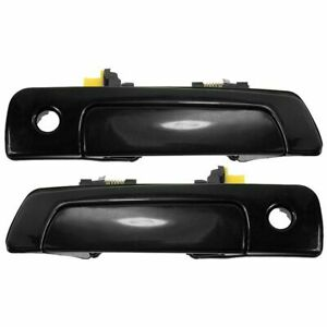 Door Handles Outside Front Gloss Black Pair Set for Sebring Stratus Eclipse