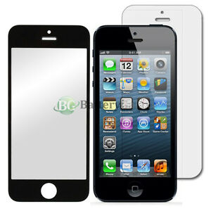 Black Glass Replacement+LCD Screen Protector for Apple iPhone 5 5S 5C 50+SOLD
