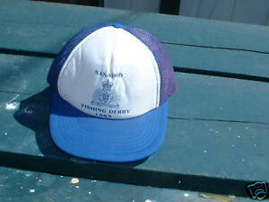 Ball Cap Hat RCMP Police Nanaimo BC Fishing Derby 1983 H421