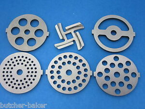 6 pc. SET Meat Grinder plate disc and knife for electric Rival Sunmile Deni $32.75