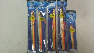 NEW 5 Benthos Williamson High Speed Vertical Jigs all orange mixed package