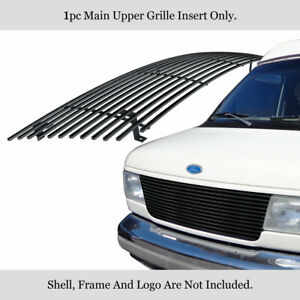 Fits 1992-2007 Ford Econoline Van 15 Bars Black Billet Grille Insert