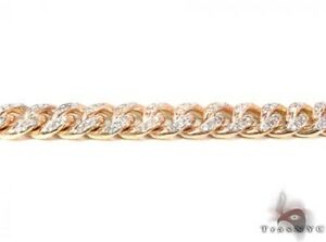Mens Diamond Chain 28inches 8mm Miami Round Cut H Color 10k Yellow Gold 8.50ct